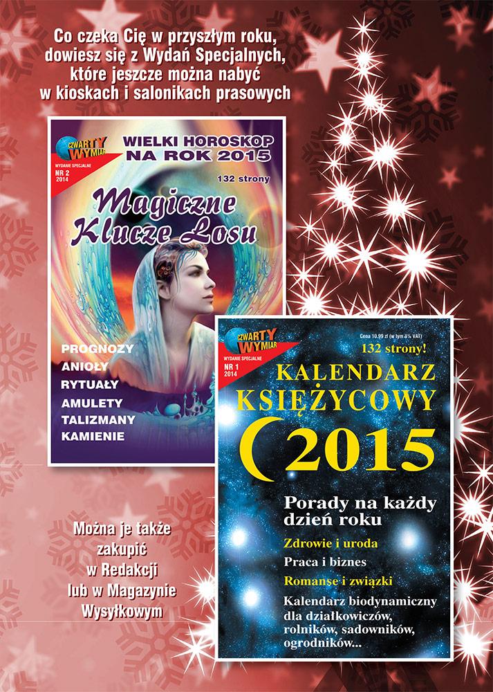 Kalendarz księżycowy 2015 i Magiczne Klucze